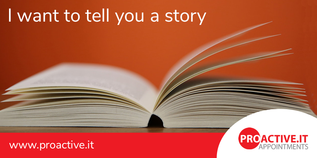 I want to tell you a story - storytelling to attract top talent