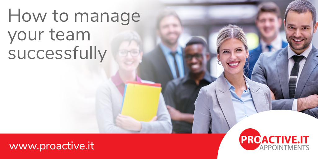 Being a Manager - Manage your team successfully