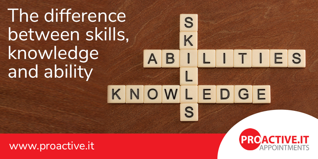 knowledge, skills and ability